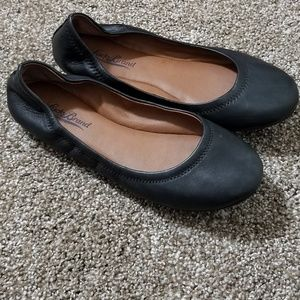 Lucky Brand Shoes - Lucky Brand Emmie Leather Black Ballet Flats